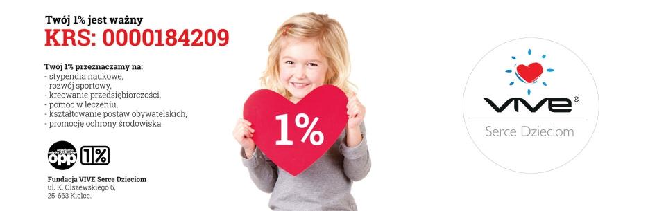 Przekaż 1% podatku na fundację VIVE Serce Dzieciom